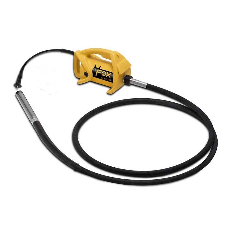 Wibrator ENAR FOX TDX + wałek giętki 4m + buława - AXAM Maszyny i Urządzenia